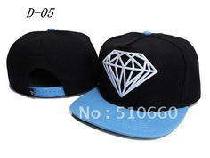 1pcs/lot Diamond Baseball Snapback hats/Caps Black/Blue China post free shipping on AliExpress.com. $8.88