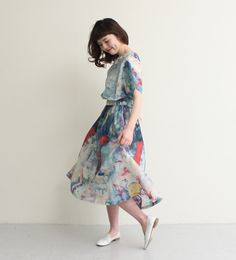 "Book Marketing] ○ ""together ..."" Print Dress"