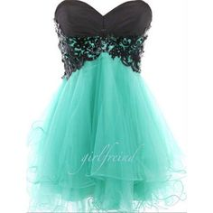 Cute lace strapless prom dress / bridesmaid dress