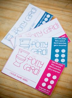 Potty cards! Love this