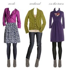 Perfect for my pear shape.. And I like the tights with skirts and dresses above my knees!