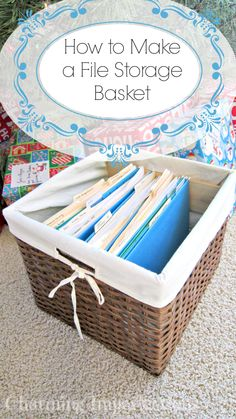 How to Make a File Storage Basket