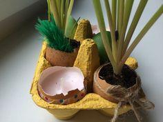 Velikonoční dekorace ze skořápek.   #easter #easterdecoration #eastereggs #diy #crafts