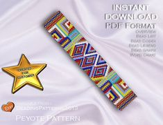 Peyote Pattern  Beading Pattern  Aztec Gold by BeadingPatterns2013