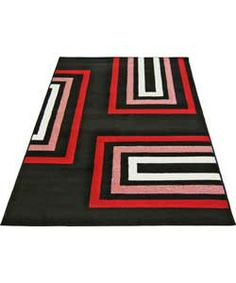 Retro Blocks Rug Black 120 X 170cm At Argos Co Uk