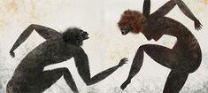 la relación del mono con el viento; la concepción de este animal como antecesor del hombre y la forma en que fue creado; el vínculo de éste con la sexualidad, y su papel de artista, músico y escriba