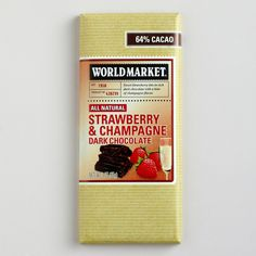 World Market® Strawberry & Champagne Bar, Set of 2   World Market