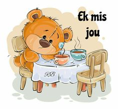 Buy Illustration of a Brown Teddy Bear Sitting by vectorpocket on GraphicRiver. Vector illustration of a brown teddy bear sitting at a table with two cups and missing someone. Cute Cartoon Pictures, Cartoon Pics, Pictures To Draw, Funny Pictures, Tatty Teddy, Urso Bear, Teddy Bear Pictures, Cartoon Elephant, Brown Teddy Bear