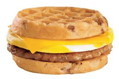 Waffle Breakfast Sandwich ala Jack in the Crack #artificiallydelicious