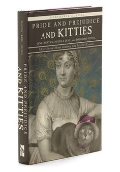 """Thanks Violeta xD - Pride and Prejudice and Kitties. Written for clever literature-lovers and fanatic feline-obsessives alike, Pamela Janes """"Pride and Prejudice and Kitties"""" is a fun and furry re-telling of Jane Austens classic. Crazy Cat Lady, Crazy Cats, Vintage Books, Retro Vintage, Vintage Cat, Cute Apartment Decor, Cat Character, Quirky Gifts, Pride And Prejudice"""