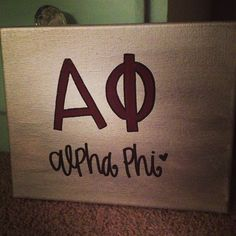 alpha phi sorority canvas painting by gloriouslyruined on Etsy