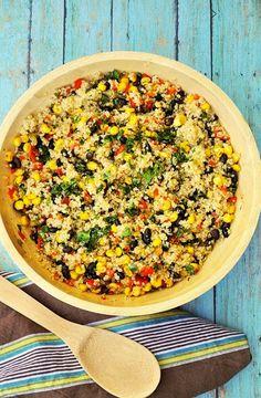 Warm Black Bean Corn Quinoa Salad