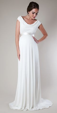 Liberty Maternity Wedding Gown (Ivory) - Maternity Wedding Dresses, Evening Wear and Party Clothes by Tiffany Rose