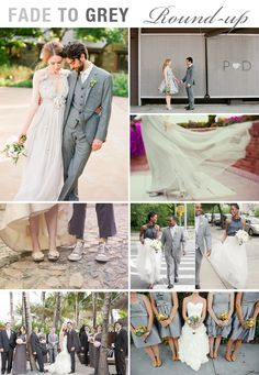 Wedding Round-Up: Fade to Grey {Grey-toned weddings from around the web}
