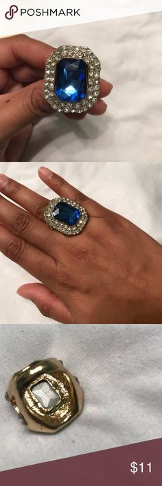Spotted while shopping on Poshmark: Blue and gold ring! #poshmark #fashion #shopping #style #Jewelry