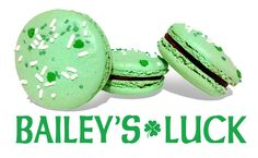 Our new Bailey's Irish Creme chocolate ganache mac, available through end of March!