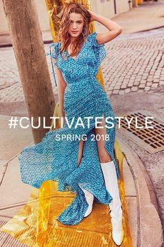 cb9674c80ca3 Spring Styles from INTERMIX  Veronica Beard Flowy Midi Dress   cultivatestyle  spring