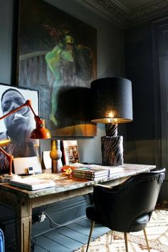 ~greige: interior design ideas and inspiration for the transitional home : going dark.. black interiors