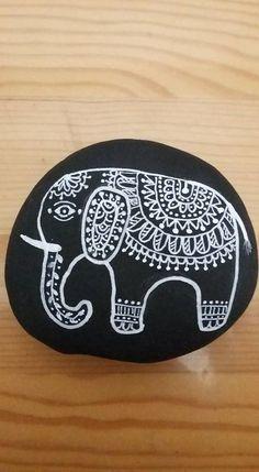 Black and white elephant!