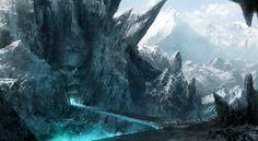 fantasy ice landscapes - Buscar con Google