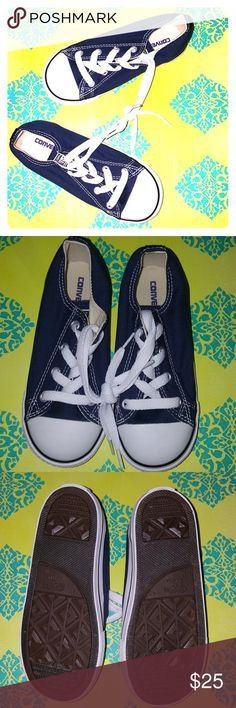 Children's Navy Blue Converse sneakers Brand new, never worn Chucks for kids (Size 10). A snazzy staple in any closet, child or adult! 😊 Converse Shoes Sneakers
