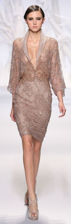 Abed Mahfouz Haute Couture Fall-Winter 2013-2014 - gorge dress and shoes