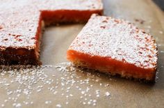 Grapefruit-Lemon Bars / #SeasonalDessert