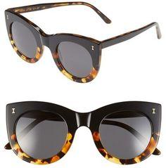Illesteva 'Boca' 47mm Round Sunglasses