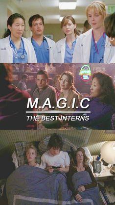 M= Meredith A=Alex G=George I=Izzie C=Christina❤️