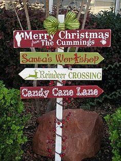 winter / holiday yard sign