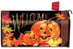 Amazon.com: Briarwood Lane Pumpkin Pals Halloween Magnetic Mailbox Cover Jack o'Lanterns Standard: Home Improvement