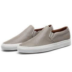 buy online 4ea66 8f37d Common Projects Grey Slip On Perforated Sneakers Common Projects Men, Slip  On Sneakers, Leather