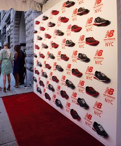 For the opening of New Balance's first experience store in New York in August, the red carpet backdrop...