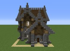 Small Medieval House 7 - GrabCraft - Your number one source for MineCraft buildings, blueprints, tips, ideas, floorplans! Minecraft Small House, Minecraft World, Minecraft Houses For Girls, Minecraft Houses Xbox, Minecraft House Plans, Minecraft Houses Survival, Minecraft House Tutorials, Minecraft Houses Blueprints, Minecraft House Designs