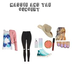 """""""Maddie and Tae concert"""" by dj2000noname ❤ liked on Polyvore featuring adidas, FRACOMINA, Topshop, Converse, Calvin Klein, Milani and Smashbox"""