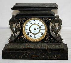 Antique Ansonia Mantel Clock #antiquemantelclock