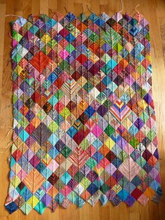 Sock Yarn Scraps Blanket...my favorite so far! I guess I'll have to get into the habit of knitting socks so I can make this blanket!