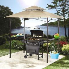 Our Stylish Gazebo Brings Relaxed Comfort Over Any Grilling Station Or Backyard Space And With Integrated LED Lights To Illuminate The Area