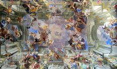 Pozzo, Glorification of Saint Ignatius, ceiling fresco in the nave of Sa...