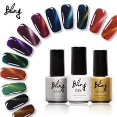Bling Gel Nail Polish Set Magnetic Nail Polish Color Gel Varnish Lacquer Nail Art Soak Off UV Gel Nail Polish Colors