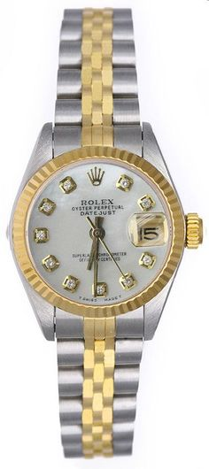 Rolex Datejust Ladies Two Tone White MOP Diamond Dial - Used