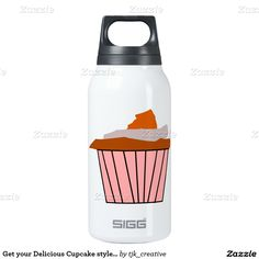 Get your Delicious Cupcake style on. Thermos Bottle