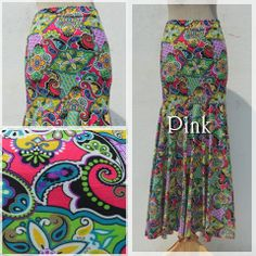 Maxi skirt -Exotic mermaid pink-  #naturaleeza #fashion #ethnic #clubnight