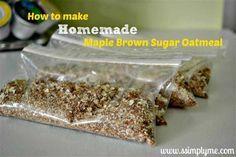 How to make homemade maple oatmeal