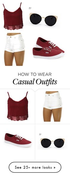 """casual"" by cuukii on Polyvore featuring Zulu & Zephyr, Vans and Una-Home"