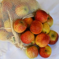 Large bag holds about 50 medium/small apples