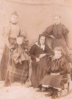 My 4-, 3- and 2-great grandmothers, stylin' around 1895.