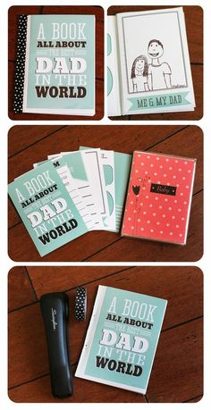 Fathers Day Cards FREE Printables - A Book all About DAD - Fun Paper Craft DIY the Kids can fill out via fathers day ideas for dad, games for fathers day, fathers day cards to make Diy Gifts For Dad, Diy Father's Day Gifts, Father's Day Diy, Diy Father's Day Book, Diy Birthday Gifts For Dad, Homemade Fathers Day Gifts, Dad Birthday, Birthday Cards, Girlfriend Birthday