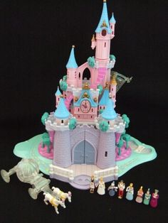 Vintage 90s toy castle- oh my gosh I had oneee! Hands down my favorite toy, especially the dance floor part