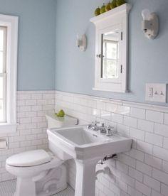 Baños: pared de azulejos vs papel de pared | Decoración